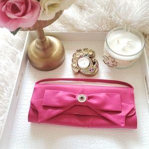 Pink Clutch Wristlet Bag